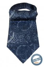 Modrý Askot se zajímavým paisley vzorem