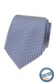 Hedvábná kravata s modrým vzorem