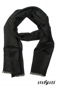 Jednobarevná pánská šála černá