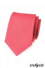 Matná kravata Avantgard korálové barvy