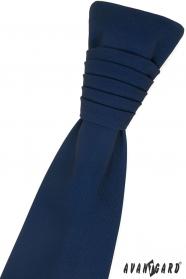 Tmavě modrá francouzská kravata
