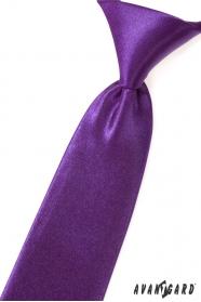 Chlapecká kravata fialová lesk