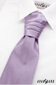 Světle fialová francouzská kravata pro chlapce + kapesníček