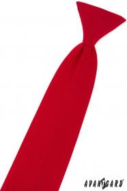 Chlapecká kravata matně červená