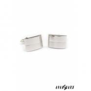 Manžetové knoflíčky PREMIUM - Stříbrná