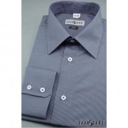 Pánská košile SLIM s dlouhým rukávem - Modrá