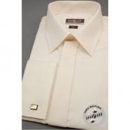 Pánská košile SLIM s krytou légou, na manžetové knoflíčky - Smetanová