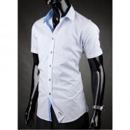 Pánská košile s krátkým rukávem Desire - Modro-Bílá