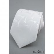 Pánská kravata bílá se vzorem