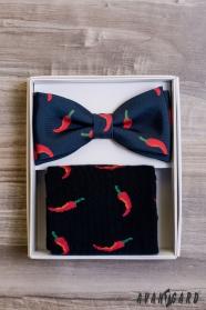 Pánský motýlek Chilli v setu s ponožkami