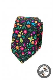 Pestrobarevná slim kravata