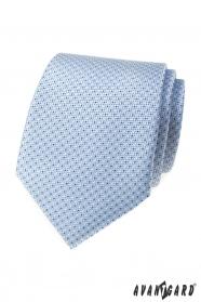 Svetle modrá kravata s tečkami