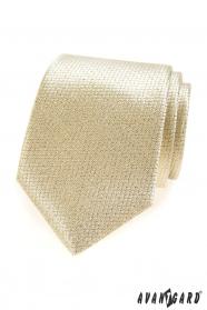 Zlatavá strukturovaná kravata