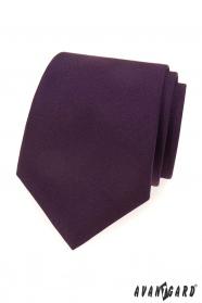 Tmavě fialová matná kravata