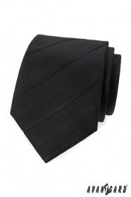 Černá kravata s šikmými proužky