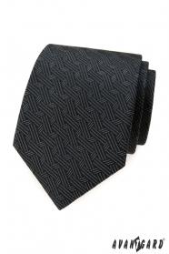 Šedá kravata s propletenými proužky