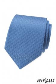 Modrá kravata s kosočtvercovým vzorem