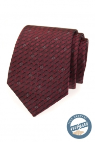 Bordó kravata hedvábná v dárkové krabičce