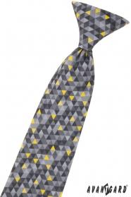 Chlapecká kravata s šedým vzorem 44 cm