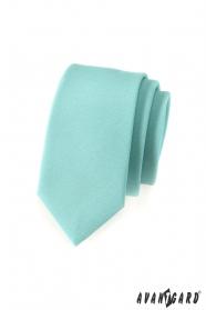 Slim kravata v mátově zelené
