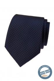 Modrá hedvábná kravata s červenou v dárkové krabičce
