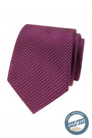Hedvábná kravata v bordó s modrým vzorem