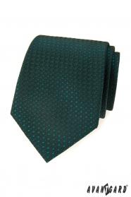 Zelená, vzorovaná kravata Avantgard