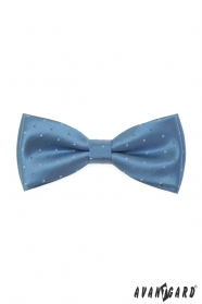 Modrá lesklý motýlek s jemným vzorem