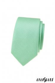 Mátově zelená slim kravata