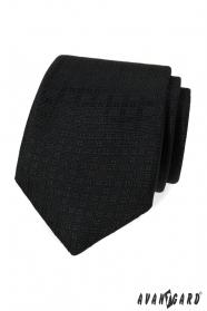 Černá kravata se vzorem
