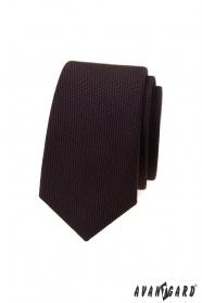Tmavě hnědá luxusní kravata slim