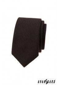 Tmavě hnědá slim kravata