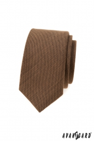 Skořicově hnědá slim kravata