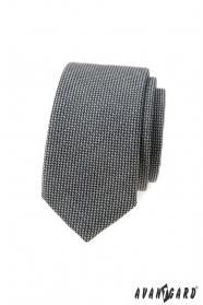 Šedá 5 cm úzká kravata