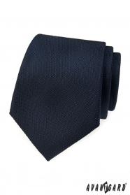 Tmavě modrá strukturovaná kravata