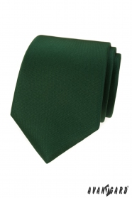 Matně zelená kravata LUX