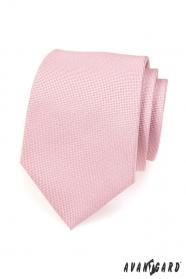 Světle růžová kravata v pudrovém odstínu