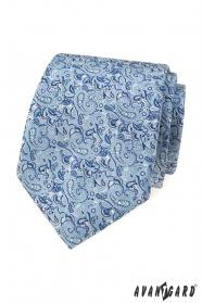 Modrá kravata s elegantním Paisley vzorem