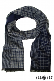Modro-šedá pruhovaná šála