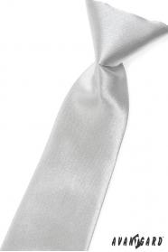 Chlapecká kravata stříbrná lesk