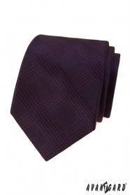 Pánská kravata s bordó proužky