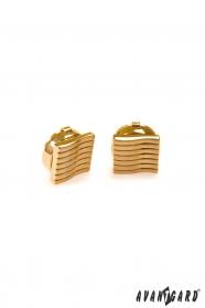 Zlaté manžetové návleky s vlnkami
