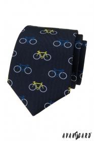Modrá kravata vzor barevné kolo