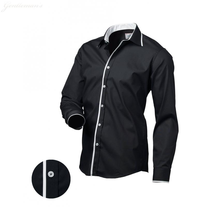Pánská košile Victorio Černá - Galamodino.cz 368d53e076