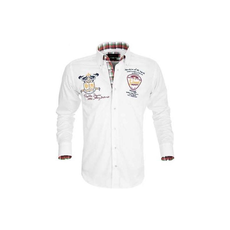 Bílá sportovní košile Pontto - Galamodino.cz 1052b2a51f