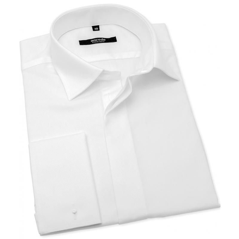 Bílá svatební košile na manžetové knoflíčky ANREDE - Galamodino.cz f47c2274b4