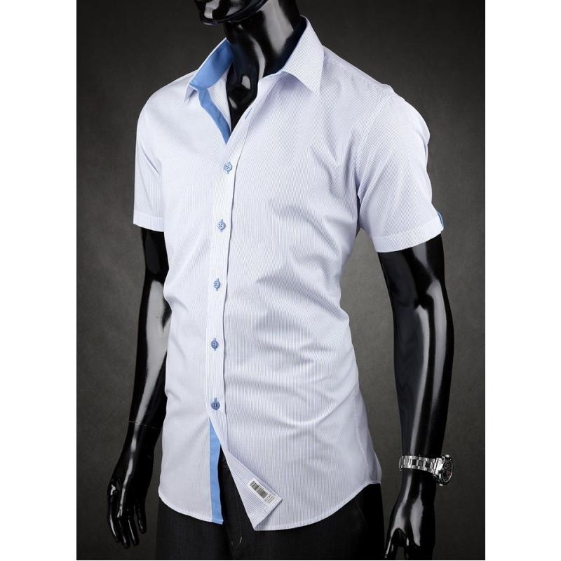 Pánská košile s krátkým rukávem Desire modro-bílá - Galamodino.cz c82a8b6ae4