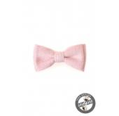 Motýlek MINI - Růžová strukturovaný - 7 cm