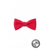 Motýlek MINI červený s bílým puntíkem - 7 cm