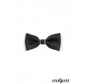 Chlapecký motýlek - 231 - černo-bílá - 10 cm
